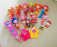 Lalaloopsy lot- 16 dolls and 2 extra outfits