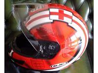 HJC crash helmet with England Logo George cross