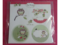 Paper Boutique A Hint Of A Hoot Die–Cut Toppers (Raspberry & Teal)