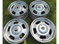 """Wolfrace 40th Anniversary Slot Mag 15"""" x 7"""" Alloy Wheels 4 x 100mm PCD. ET 24mm"""