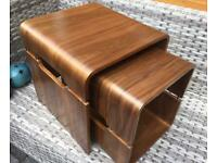 Havana Matte - Set Of Two Walnut Tables.