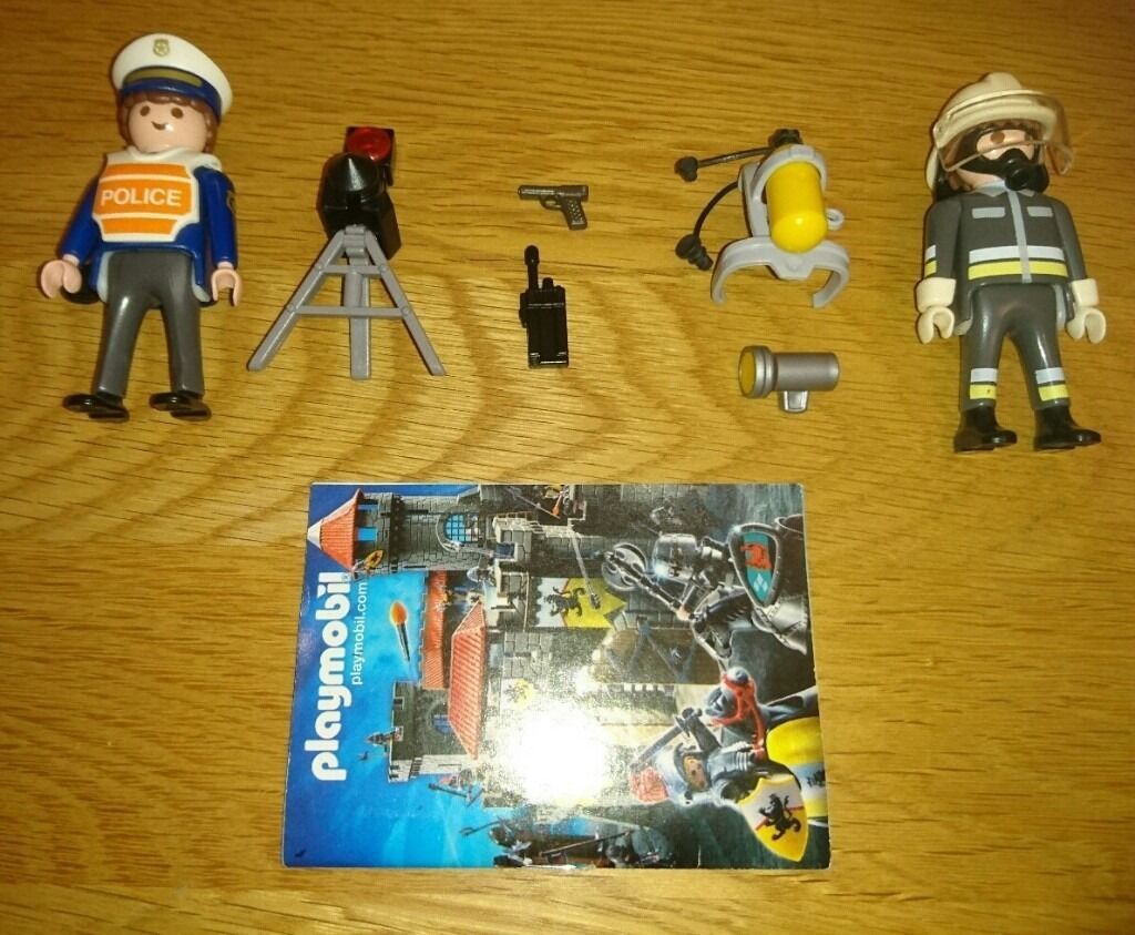 Playmobil Special Sets 4608 Fireman And 4900 Radar Patrol As New Conditionin Norwich, NorfolkGumtree - Playmobil 4608 Fireman figure complete with hat with full visor, oxygen tanks and searchlight. Playmobil 4900 Policeman figure complete with hat, gun, radio and tripod mounted speed radar gun. These sets were discontinued some years ago and are quite...