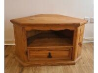 Rustic pine TV unit . Solid wood . Dimensions 980mmx580mmx500mm