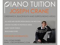 PIANO LESSONS AVAILABLE IN GREENWICH, BLACKHEATH AND SURROUNDING AREAS