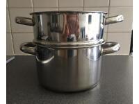 Sabichi pan and colander