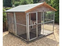 REEVES Animal Housing – Quality Bespoke Dog Kennel – Run & Built in Storage Shed