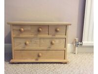 JOHN LEWIS Mini Wooden Chest of Drawers (Large Jewellery Box)