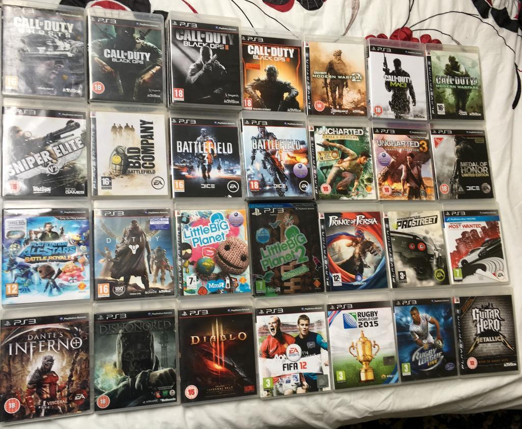 Sony Playstation 3 Games For 10 Cod Call Of Duty Black Ops Fifa 4 Ps4 Limited Edition Non Dvd Angry Birds