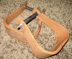 Stirrups saddle horse new wooden 3