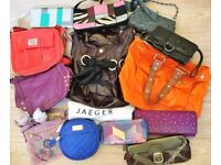 Collection of 13 x Designer Bags, Jaeger, Next, Sisley Etc