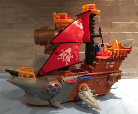 Imaginext shark bite pirate ship
