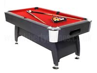 StrikeWorth 6ft x4ft Pool Table, great condition, unmarked cloth, Balls and 2 cues included