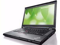 LENOVO T430 CORE i5 LAPTOP 8GB RAM 240SSD HD 4000 GRAPHICS USB 3.0 DVD W10 PRO WIFI