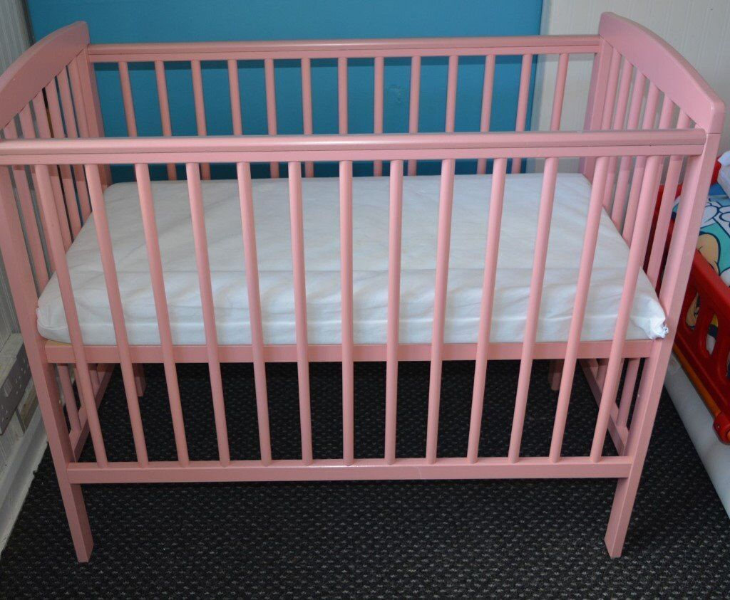 compact nursery furniture. CAN SEND PARCELFORCE NEXTDAY Pink Space Saver Small Mini Compact Baby Cot And Mattress 100cm X Nursery Furniture T