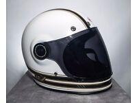 BOXED Bell Roland Sands BULLITT CARBON MOJO White/Gold Helmet Size Small