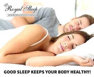 Royal Sleep – Q Size Cool Gel Mattress Topper Bamboo Fabric Cover