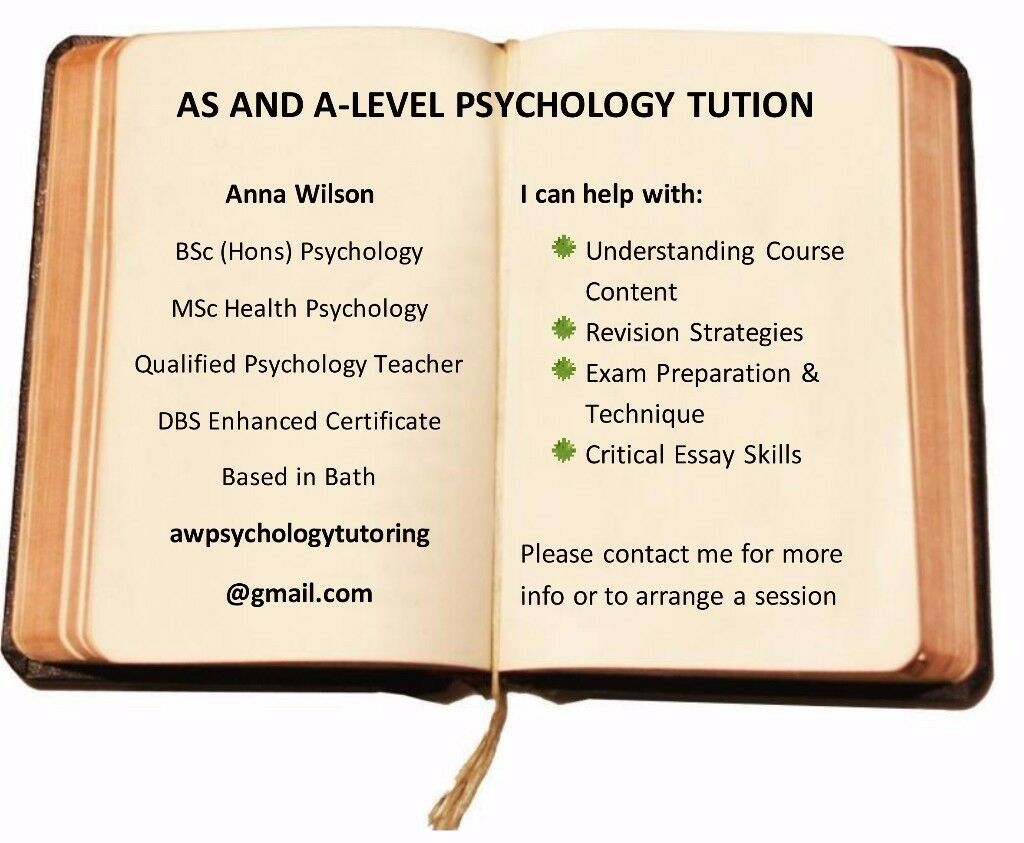 AS and A-Level Psychology Tutor