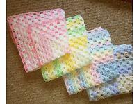 Crocheted Pram/Car Seat/Dolls Pram Blankets