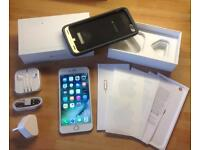 iPhone 6 Plus - 64gb. White/silver. UNLOCKED mophie charging case included