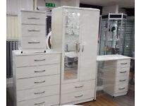 Wardrobe - Bedside Cabinet- Dresser- Chest Drawer - FULLY ASSEMBLED