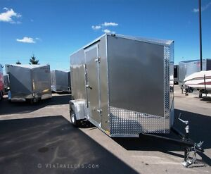 2017 Stealth Trailers Titan SE 6x10 steel-framed trailer with ra
