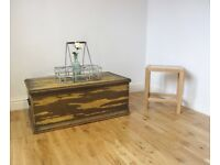 Stripped Pine Storage Chest / Coffee Table / Blanket Box