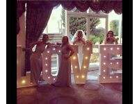 4ft love letter lights 12 different colour change settings. £699