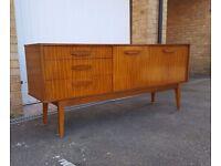 Walnut Vintage Mid Century Sideboard TV Stand