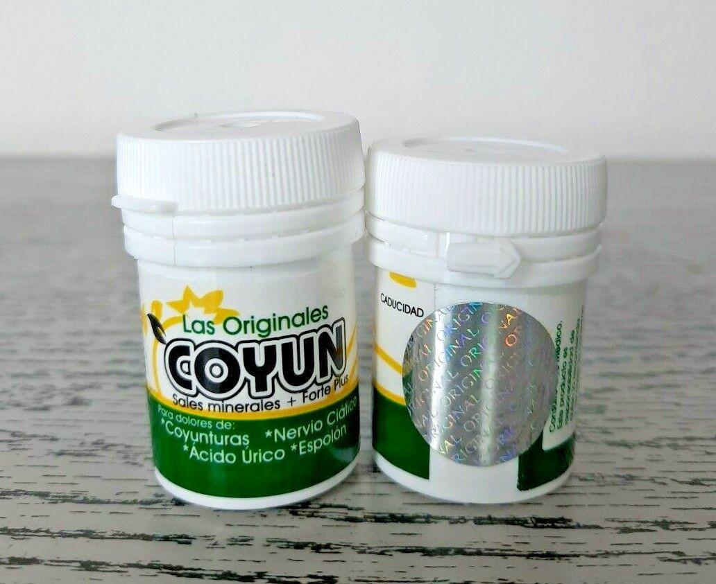 1 Bottle LAS ORIGINALES COYUN  nervio ciatico coyunturas acido urico espolon