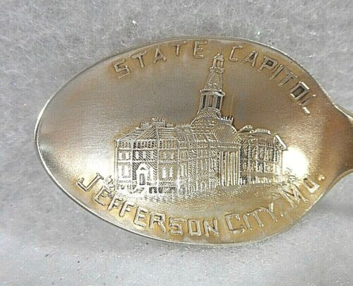 Sterling Silver Souvenir Demitasse Spoon Jefferson City, MO-State Capitol