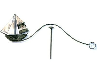 Metal Ship Boat garden wind spinner feature ornament 140cm H x 64cm high end
