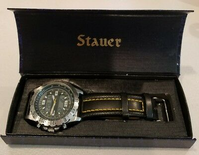 7c444b24b69 Stauer Men s Watch Stainless Steel Case Back Japan Movement 20409 3ATM  Water Res