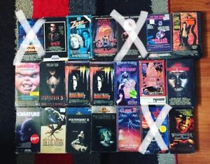HORROR VHS FOR SALE!!