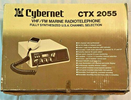 VINTAGE CYBERNET CTX 2055 MARINE VHF/FM Radiotelephone Japan original box