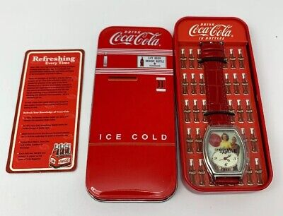 Coca Cola Wrist Watch Womens Couple Man In Uniform Japan Movement New In Box