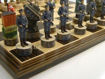 World War 2 US vs GERMANY Chess Set W/ Ebony Black & Maple 14