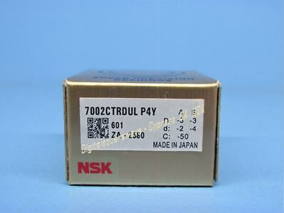 Nsk 7002ctrdulp4y Abec-7 Super Precision Spindle Bearings. Set Of Two
