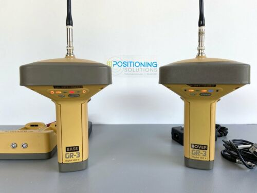 Topcon GR-3 GNSS RTK Base & Rover Kit Used