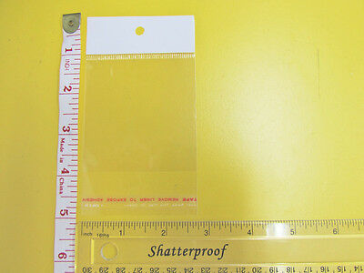 Self Adhesive Clear Resealable 7x7cm Cellophane Bag with Hang Hole Hang-3 100pc