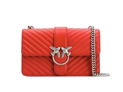 Pinko Love Shoulder Bag Red NEW WITH BOX