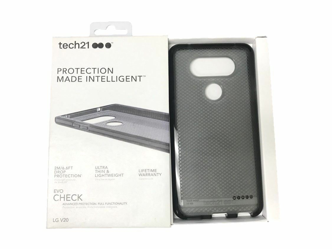 Tech21 Evo Check Case Cover Impact Protection for LG V20 Smokey Black NEW