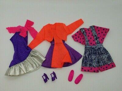 Vintage Barbie 80s 90s Pink Purple Mini Dresses Shortalls Polka Dot Lot