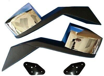 Volvo Truck Hood Mirror Chrome  Set Vn Vnl Mounting Plates  82361058 82361059 ()