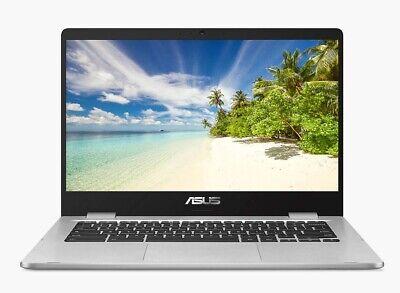 "Asus C423NA-BV0078 14"" Chromebook Intel Celeron 4GB RAM 32GB eMMC Silver"
