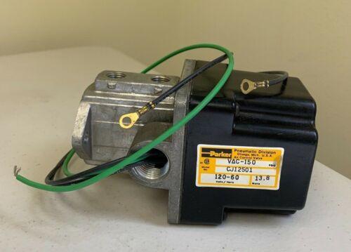 PARKER PNEUMATIC CJ12501 VAC-150 120/60 volts/hertz 13.8 watts