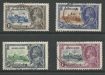 SIERRA LEONE THE 1935 GV SILVER JUBILEE SET FINE USED CAT £55