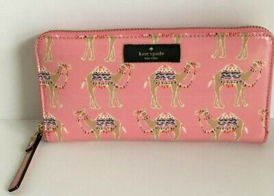 Kate Spade Daycation Party Camel Neda Wallet NWT