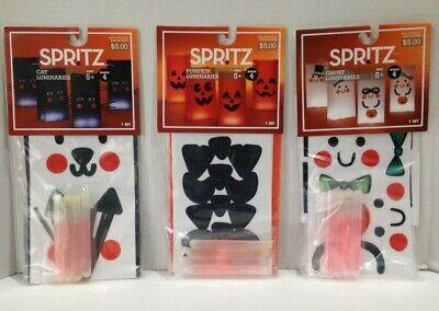 Kid Halloween Crafts Activities (Halloween Trick or Treat Bag Spritz CAT GHOST PUMPKIN luminaries Kids)