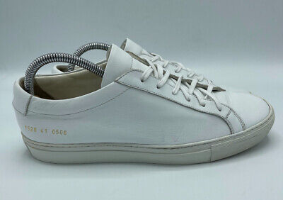 Common Projects Achilles Low White Leather Sneakers Men's Size 41 EU 8 US