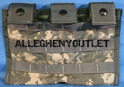 US Military Army MOLLE Triple Mag 3 Magazine Ammo Pouch M4 M16 ACU USGI NEW